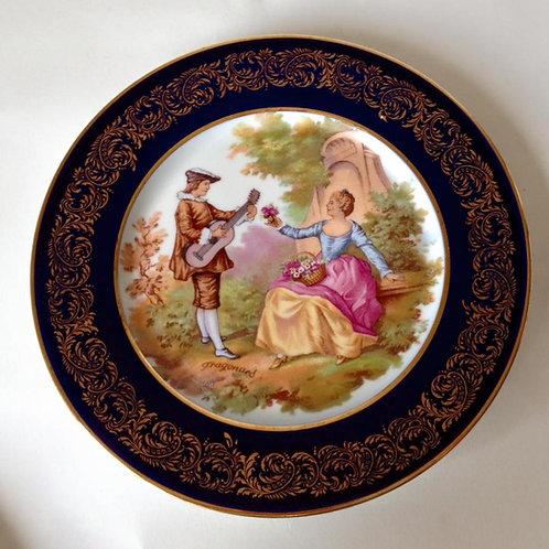 Тарелка фарфор, Лимож 2 (ММ)