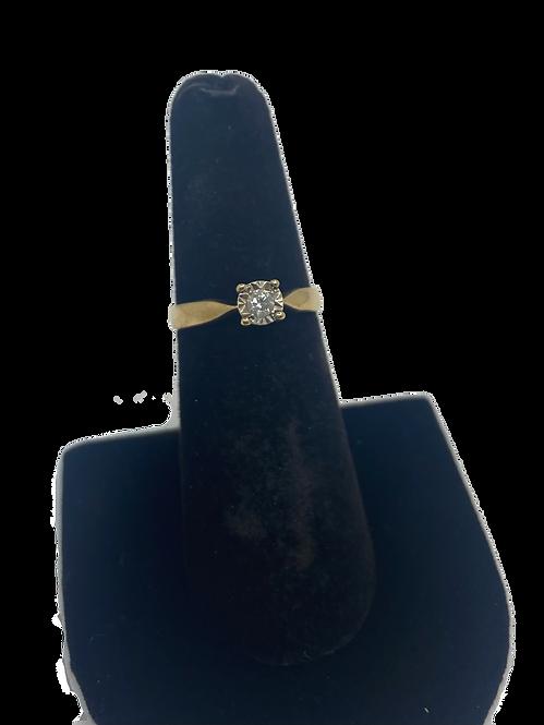 9ct Diamond Solitaire Ring