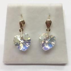 9ct austrian crystal heart drops