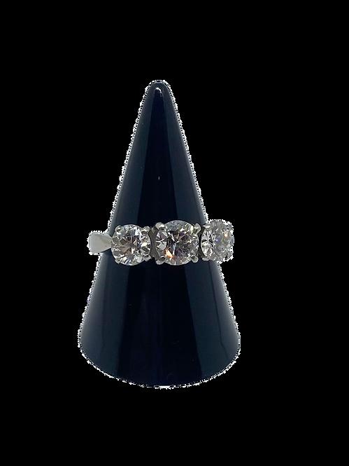 Platinum 2.50ct Diamond Trilogy Ring