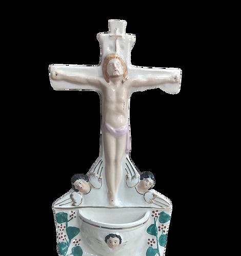 Staffordshire Flat-back Crucifix Ornament