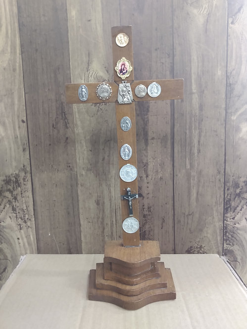 Wooden Cross On Stand