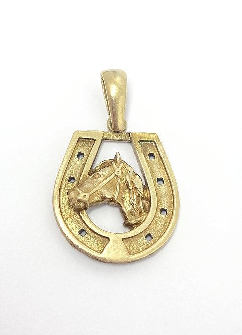9ct Horseshoe Pendant