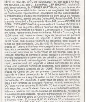 ASSEMBLÉIA GERAL EXTRAORDINÁRIA – EDITAL DE CONVOCAÇÃO