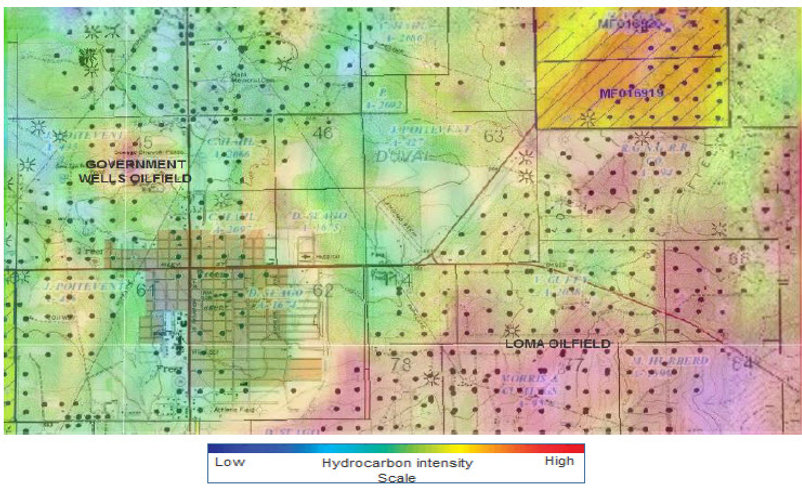 Oilfield Satellite Mapping Hydrocarbon Satellite Map Hydrocarbon Mapping Satellite Mapping