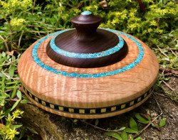 Curly Maple/Turquoise with cover