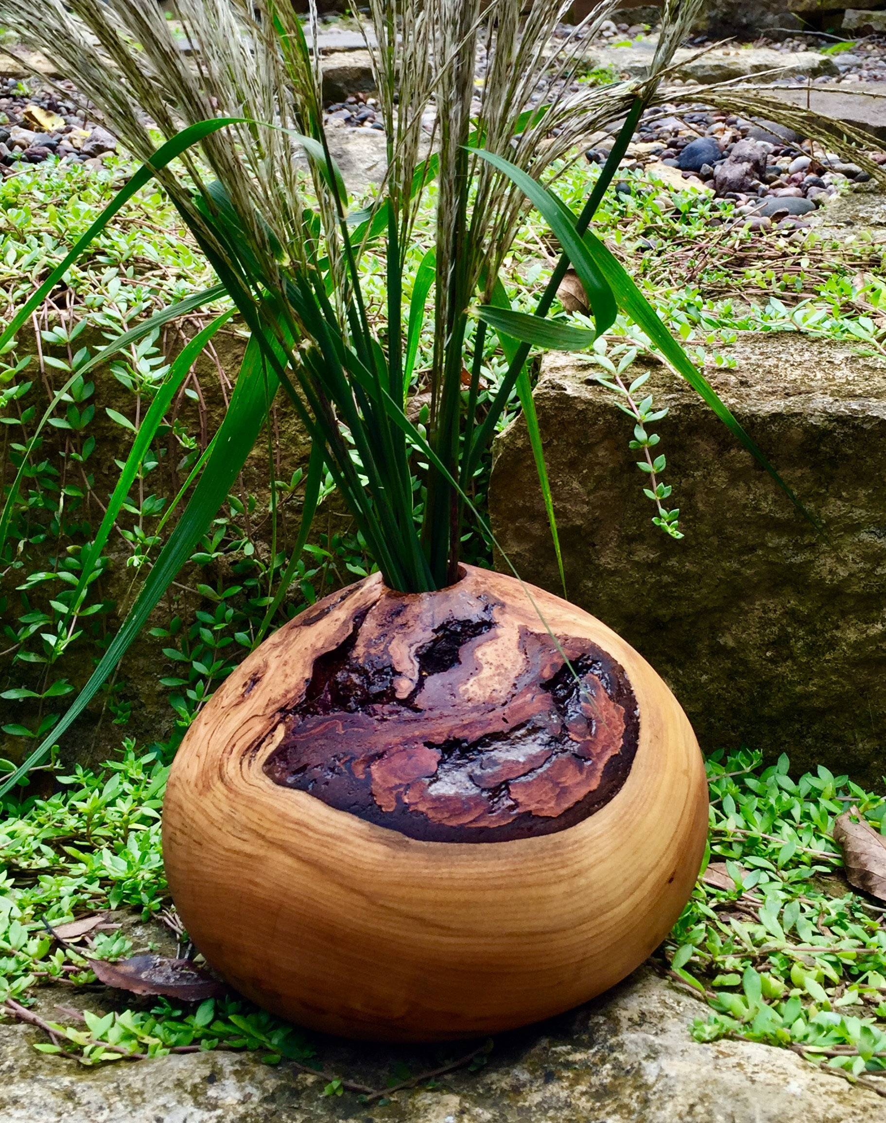 Cherry Burl Vase