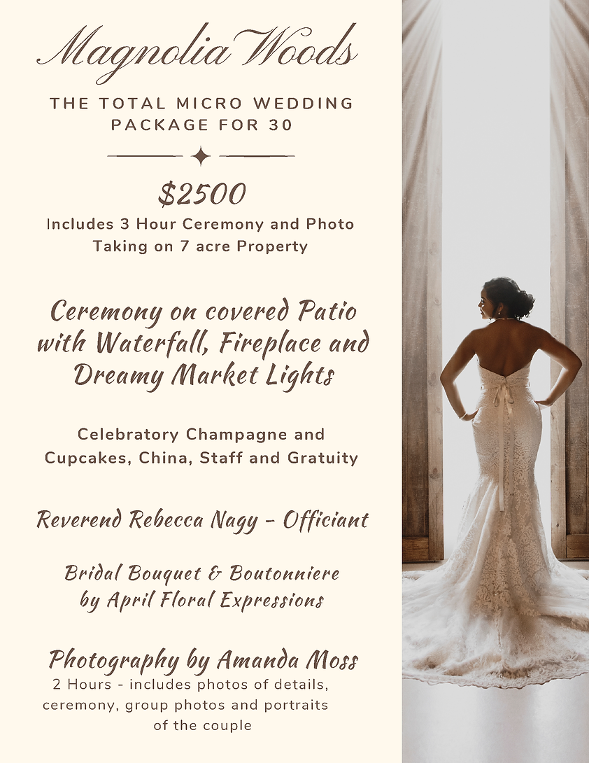 All inclusive  Micro Wedding Package for