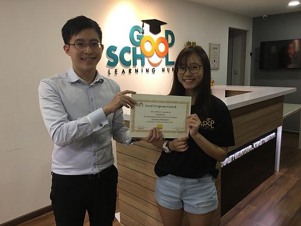 Sharlotte Lim O Levels Good Progress - E