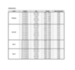 Kovan Math Schedule