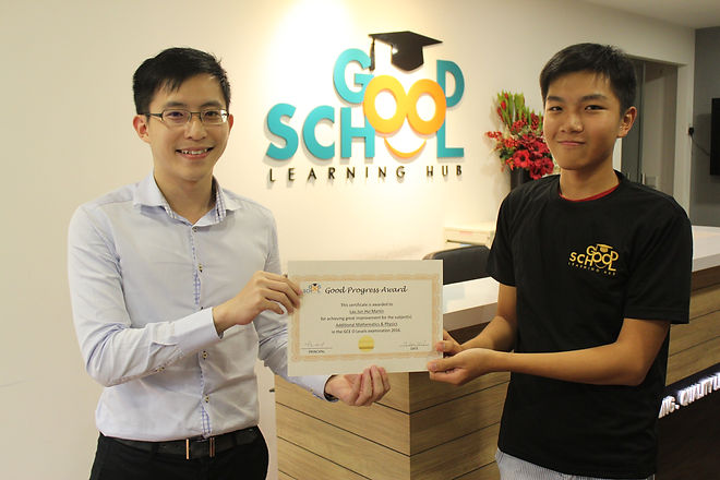 Lau Jun Hui Martin O Levels Good Progres