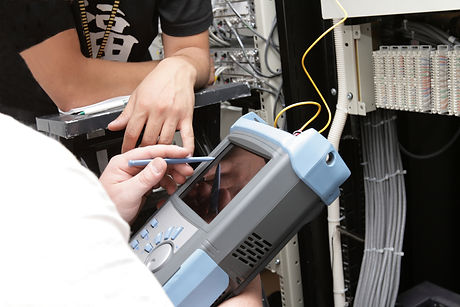The measurement of fiber optic link on telecom site