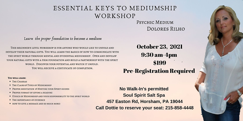 Essential Keys to Mediumship Workshop