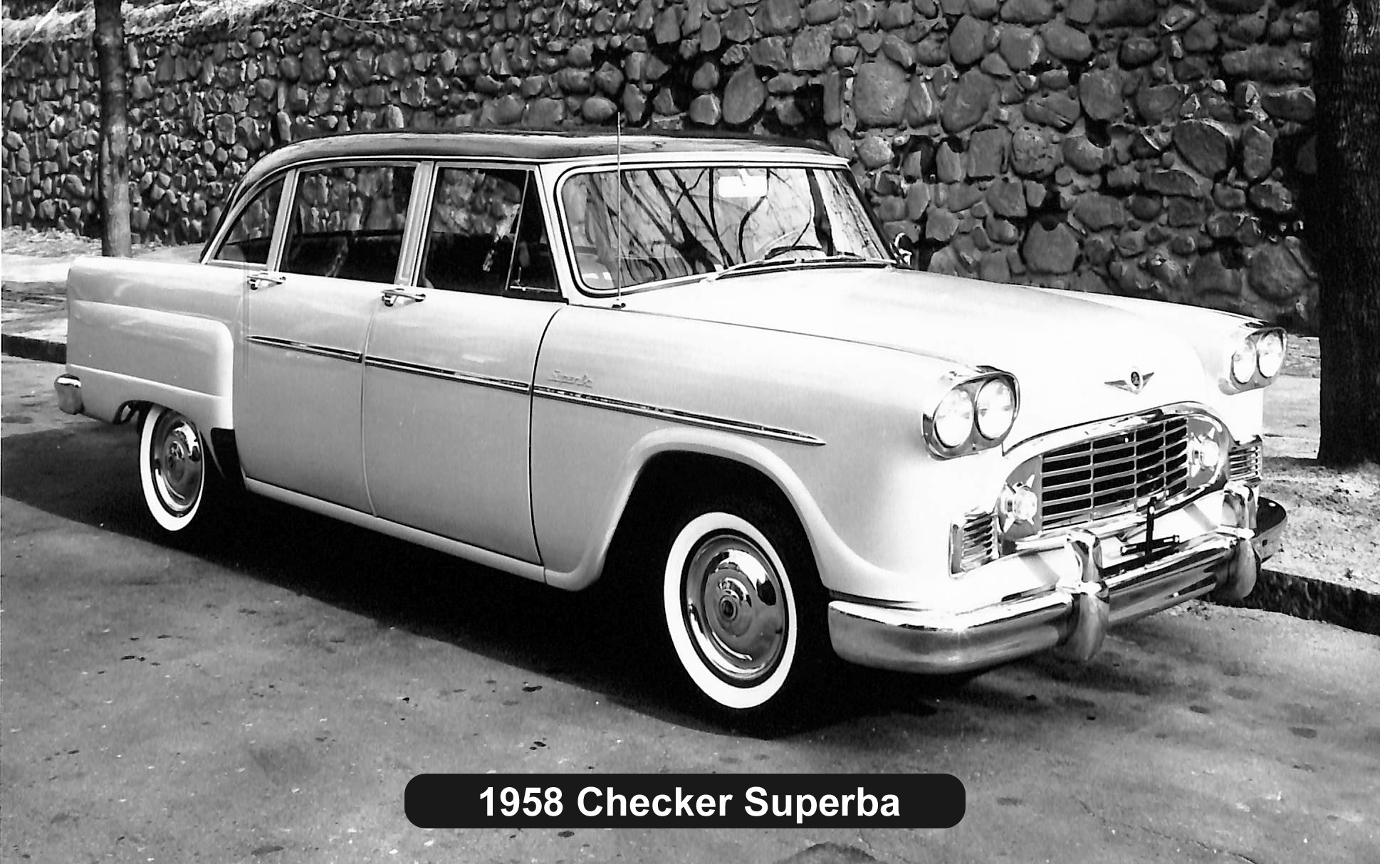 1958 Checker Superba BW Photo