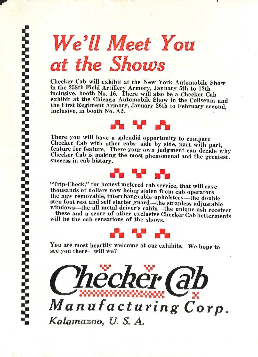 Checker Taxi, Checker Cab