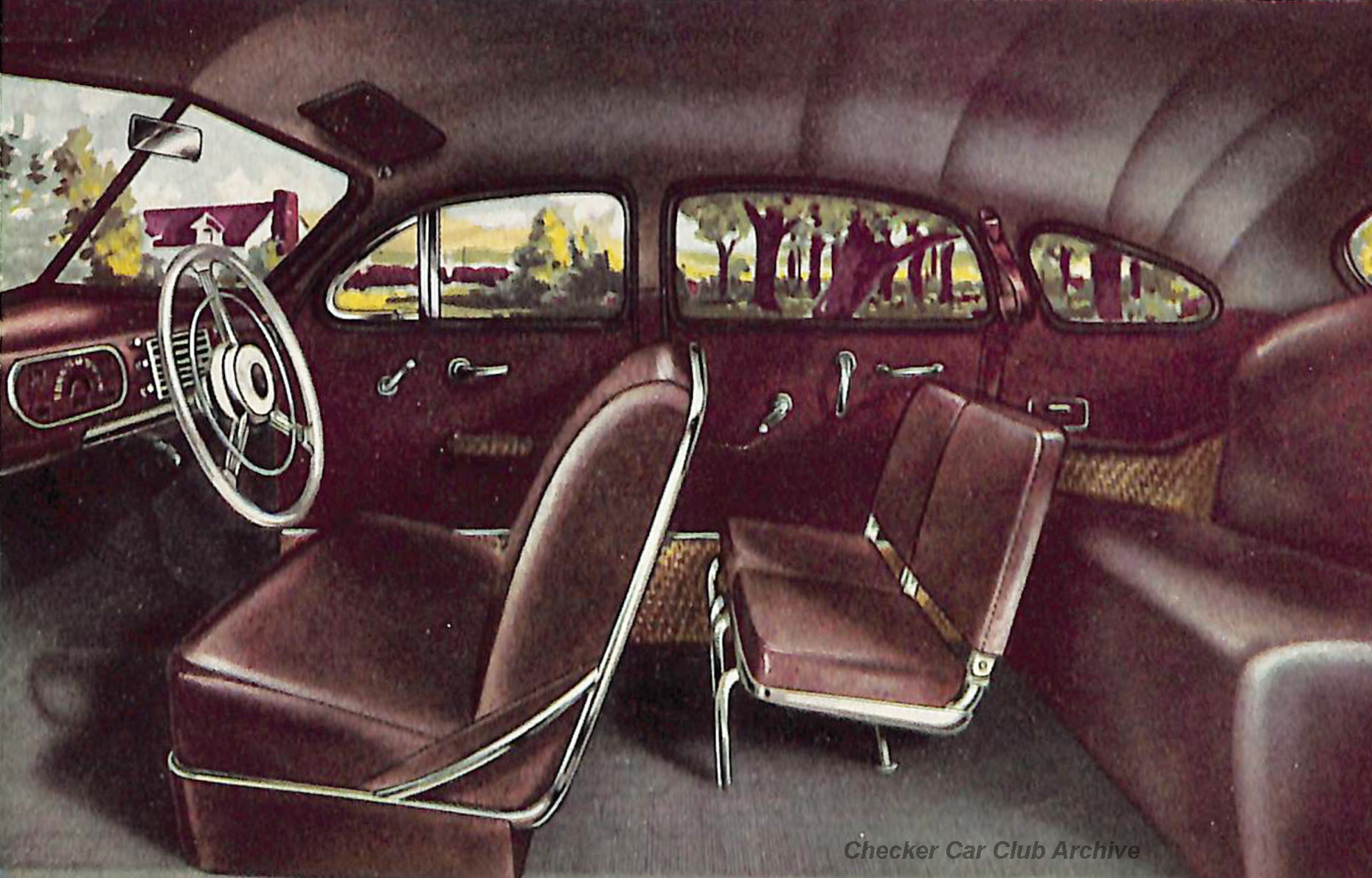 1948 Checker A-3 Limousine Sedan Interior 01w