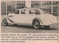 1936 Checker Y Limo