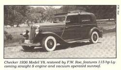 1936 Checker Y8 Taxi