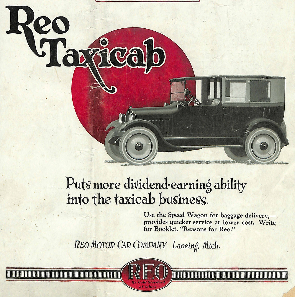Reo Taxi, Reo Cab