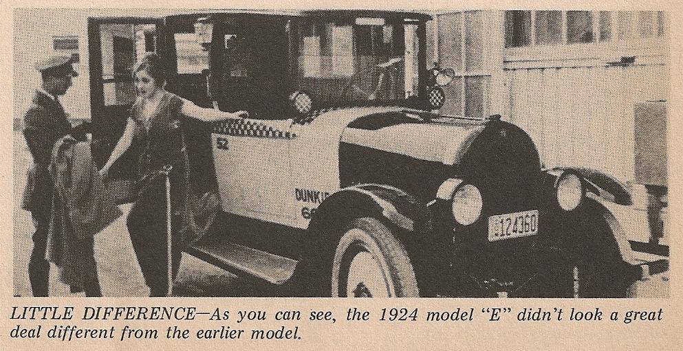 1924 Checker E Taxi