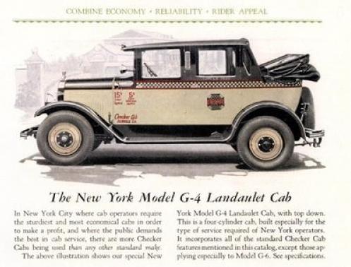 1927 Checker G4 NYC Taxi