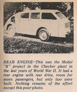 1944 Checker Model B Prototype