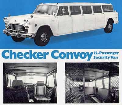 1972 Checker Convoy 12-passenger Security Van
