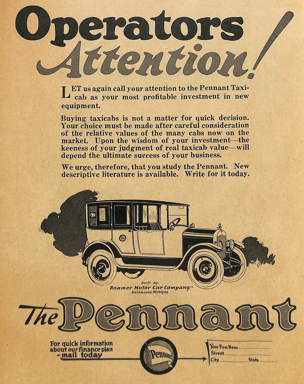 Pennant Taxi, Pennant Cab