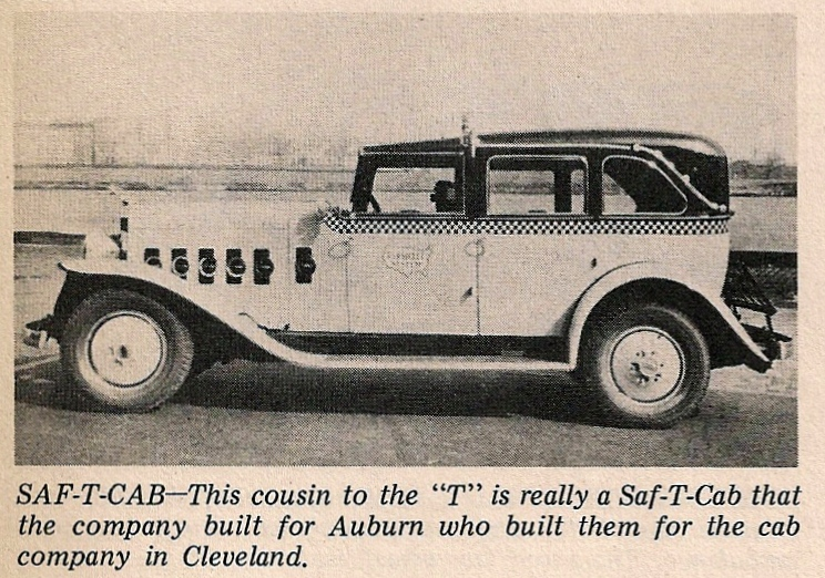 1934 Checker Saf-T-Cab