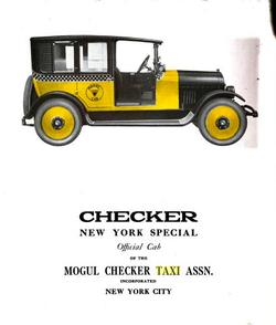 1922 Checker Taxi NYC