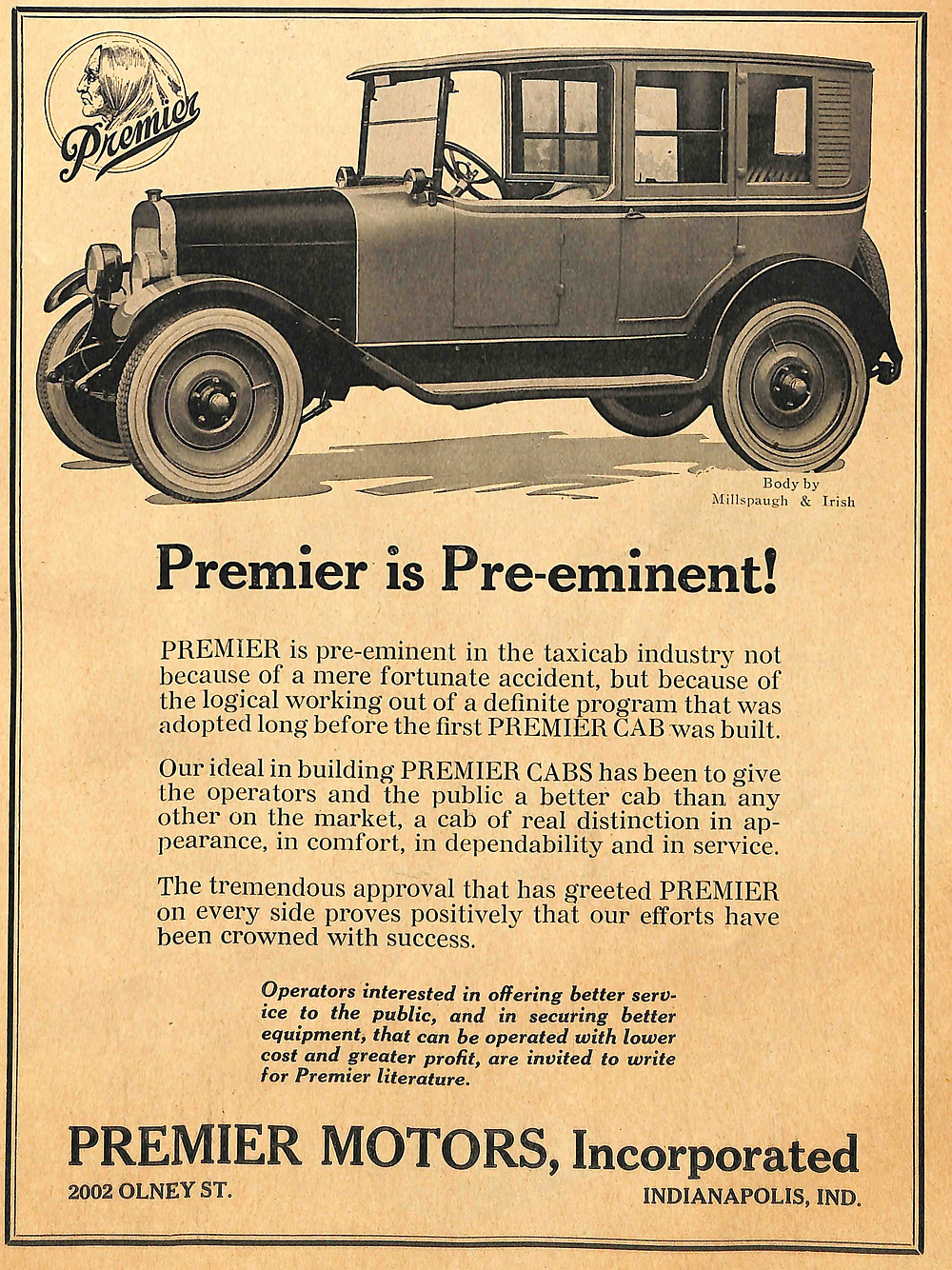 Premier Taxi, Premier Cab