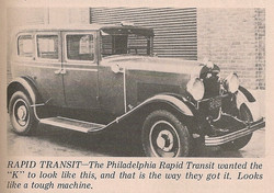 1929 Checker (Modified) K Philadelphia Tax