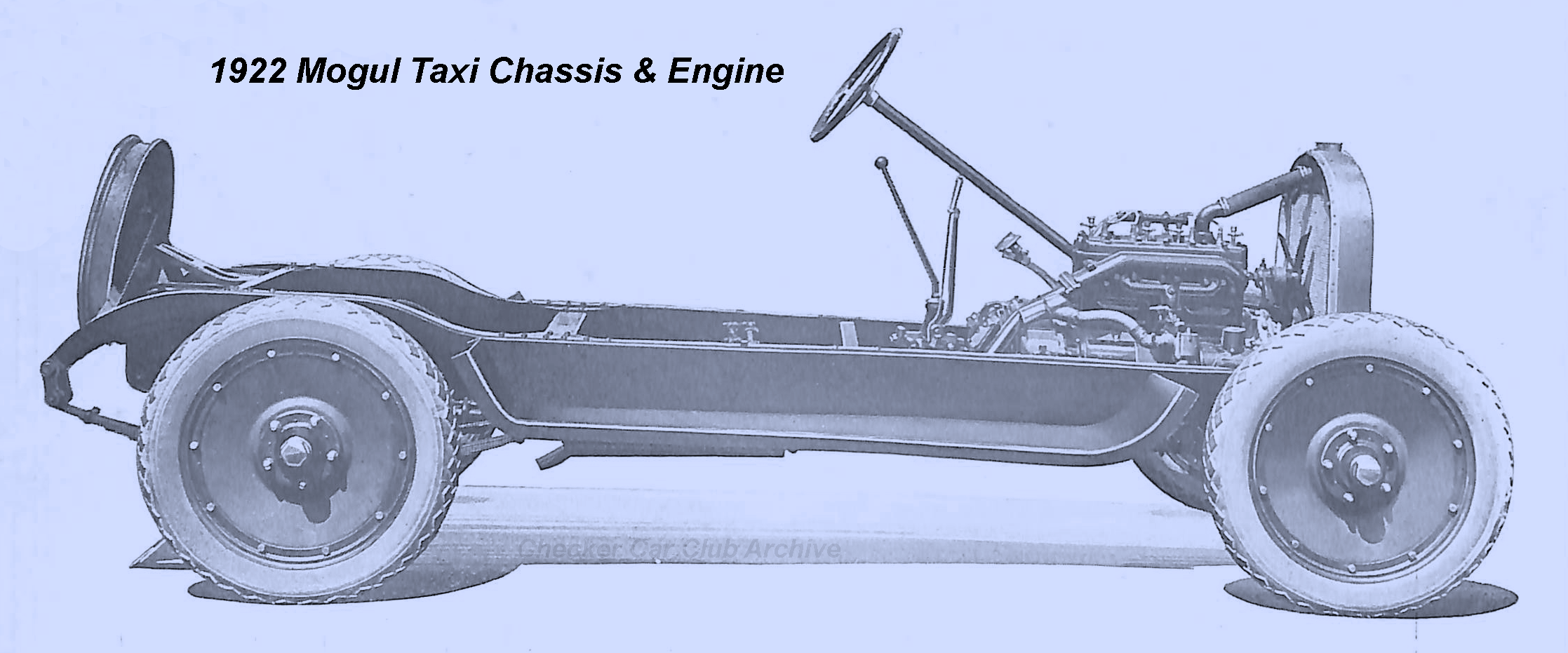 1922 Mogul Taxi Chassis & Engine