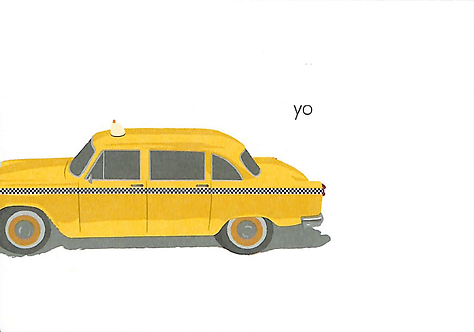 Taxi Greeting Card (Blank Inside)