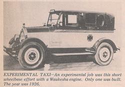 1926 Checker Waukesha Experimental Taxi