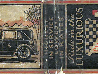 1929 Checker Model K Matchbook