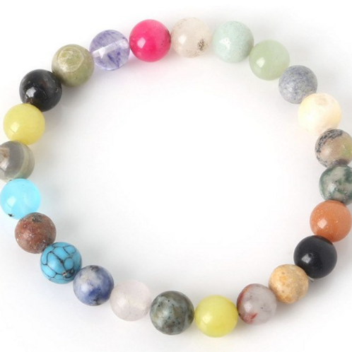 Mixed Stone Stretch Bracelet