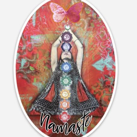 Namaste Oval Sticker