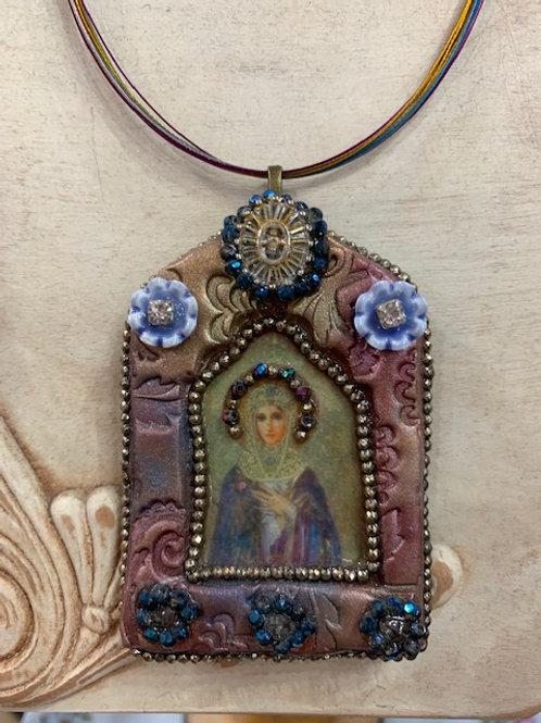 Handmade Mary Shrine Necklace