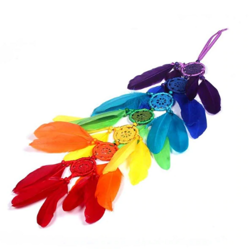 Chakra Dreamcatcher with Feathers