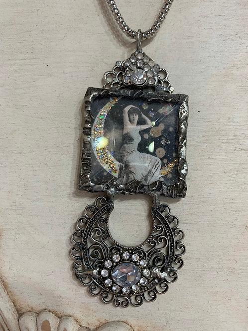 Vintage Moon Goddess Necklace