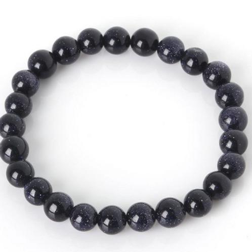 Blue Goldstone Stretch Bracelet