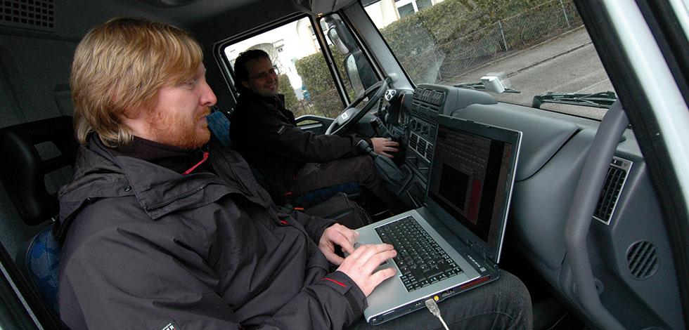 Forschung & Entwicklung am Fahrzeug