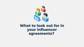 What to look out for in your influencer agreements?