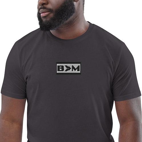 Bells Into Machines men's emroidered organic cotton t-shirt