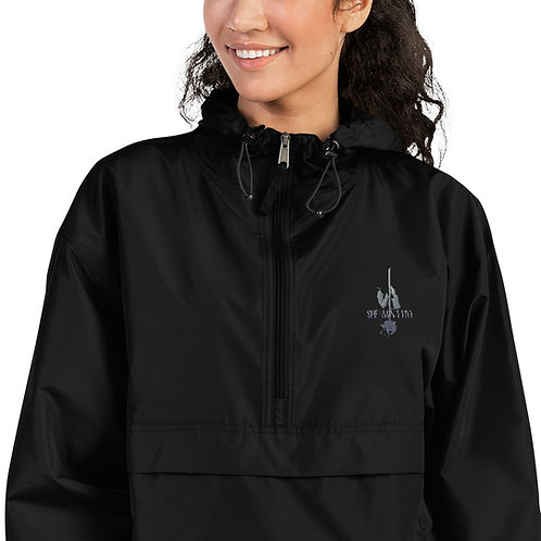 Logo and Rose Women's Embroidered Champion Packable Jacket