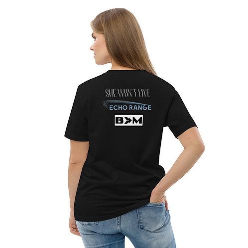 f3 plus bands women's organic cotton t-shirt
