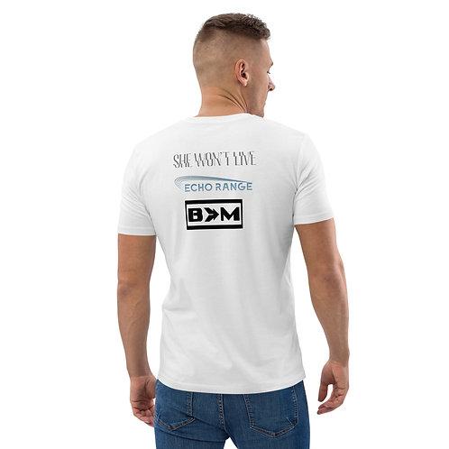f3 plus bands men's organic cotton t-shirt