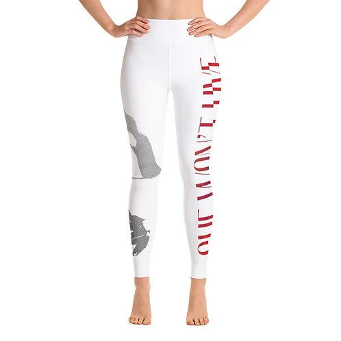 Logo and Rose Yoga Leggings