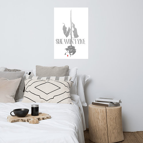 Logo and Rose Poster